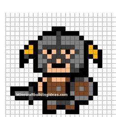 Minecraft Pixel Art Templates: Skyrim Dragon Born