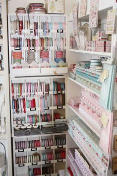 Fabric And Ribbon Storage In A Craft Store 24 Creative Craft Room Storage  Concepts Hand Made Stuff