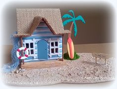 Redanne: Tim Holtz Surf Shack / Beach Hut