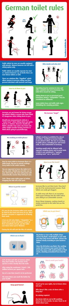 German toilet rules Infographic - German toilet etiquette