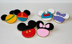 Mickey Mouse Clubhouse Cookies by Sweet Melissa's Cookies: Mickey, Minnie, Donald, Daisy, Goofy and Pluto