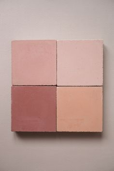 A selection of pink cement tiles for your renovation project. Clay Tiles, Cement Tiles, Mosaic Tiles, Warm Colors, Colours, Spanish Home Decor, Handmade Tiles, Color Tile, Plain Wallpaper