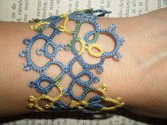 Tatting - Frivolite  Bracelet - Tatted  Lace Bracelet by carmentatting on Etsy