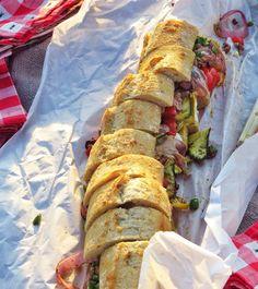 Grilled Vegetable sandwich.