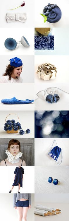 Blue and White by Carrie on Etsy--Pinned with TreasuryPin.com #annehermine #hipstergymbag #backpack #upcycled