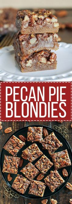 These Pecan Pie Blondies are a portable version of one of my favorite ...