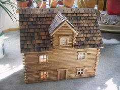 Log dollhouse by gsnow1 on Etsy, $599.00