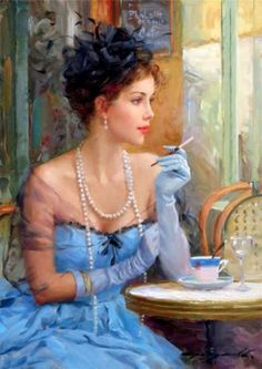 Colourful Oil Paintings : Konstantin Razumov is a russian painter who has impressed art collectors with his impressionist Paintings. Woman Painting, Painting & Drawing, Painted Ladies, Foto Art, Portrait Art, Beautiful Paintings, Female Art, Art Gallery, Images