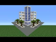 Minecraft Tutorial: How To Make A Modern Hotel - YouTube