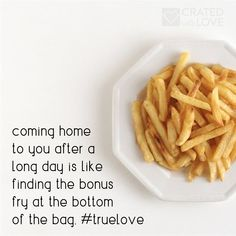 Is there a greater feeling than finding that bonus fry, just when you think the bag is empty? Encouraging Love Quotes, National French Fry Day, Empty, Fries, Breakfast, Bag, Food, Morning Coffee, Meals