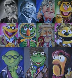 Doctor Who Muppet Mash-up Painting  - Doctor Who Muppet Mash-up Fine Art Print