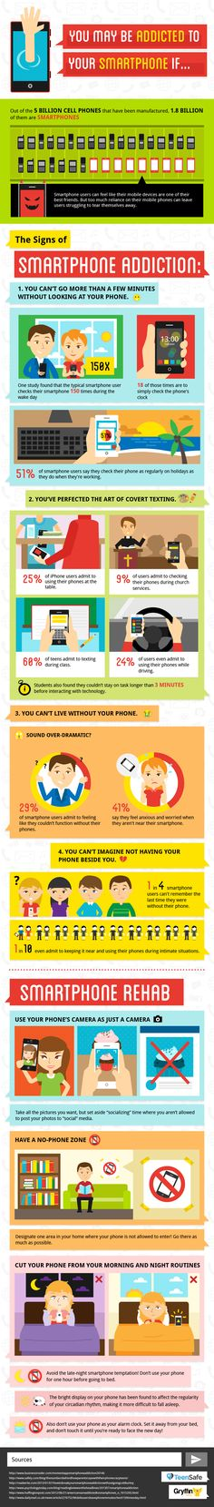 You May Be Addicted to Your Smartphone #infographic #Smartphone #MobileDevices