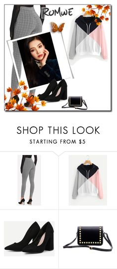 """:Cut And Sew Color Block Hoodie"" by nimeda ❤ liked on Polyvore"