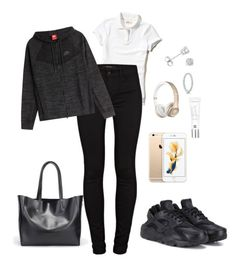 """""""💕"""" by dreairrational on Polyvore featuring Hollister Co., J Brand, NIKE, Beauty Rush, Amanda Rose Collection and Pandora"""