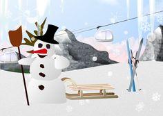 """Generiert aus: """"Berge . Seilbahn . Ski. Schlitten .   Schnee   Hinten   .  Schneemann.     hinten.     Eiszapfen"""" Olaf, Snowman, Disney Characters, Fictional Characters, Art, Sled, Mountains, Pictures, Art Background"""