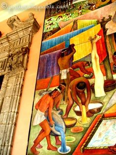 Diego Rivera mural at the Palacio Nacional in Mexico City