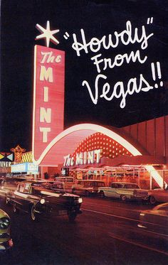 The Mint Las Vegas, Nevada - vintage postcard & Patsy Cline at the Mint Casino, Las Vegas Nevada. 1962-63 New Years Holiday http://www.pinterest.com/pin/122371314848924023/