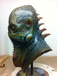 """""""Iguana man"""" I designed,sculpted, and painted."""