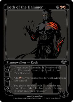 blacked out planeswalker. mtg. magic the gathering.