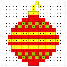 Christmas ornament for gift tag Hama Beads Design, Hama Beads Patterns, Beading Patterns, Christmas Perler Beads, Christmas Cross, Christmas Ornament, Cross Stitch Designs, Cross Stitch Patterns, Christmas Decorations Diy For Kids