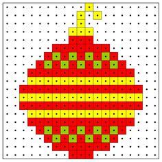 KleuterDigitaal - wb kralenplank kerstbal 01