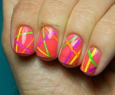 Neon Stripes #neon #stripes #pretty #adorable #summer #2k13 #in #Love
