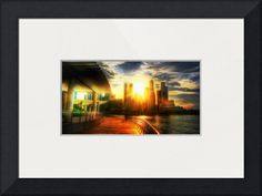 """""""City Sunset Singapore"""" by Blue Sentral Photography, Singapore // City Sunset Singapore // Imagekind.com -- Buy stunning fine art prints, framed prints and canvas prints directly from independent working artists and photographers."""