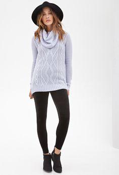 Cowl Neck Fisherman Sweater | FOREVER21 - 2055880077 | Forever 21 ...