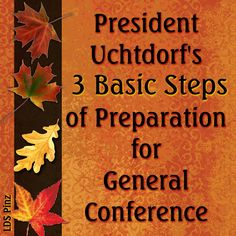 """""""How do I prepare myself and my family for general conference?"""" See how, including reading Pres.Uchtdorf's article, """"General Conference—No Ordinary Blessing"""" #ldsconf #PresUchtdorf www.lds.org/general-conference/prepare-for?cid=HPTH091913094"""