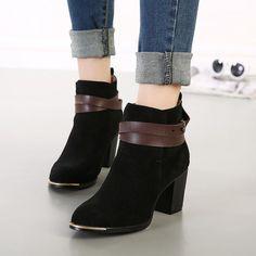 รองเท้าบู๊ทเกาหลีแฟชั่น  ยี่ห้อ Pangma มีให้เลือก 4 สี