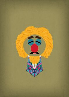 The Muppet Show Lips Minimalist Poster Retro Style by TheRetroInc