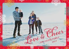 Spread love and cheer with this 'Vibrant Spirit' #Holiday Photo Card in bright red.