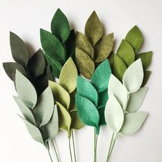 One of the hardest part of making arrangements is deciding what shades of green to use. One of the hardest part of making arrangements is deciding what shades of green to use. Handmade Flowers, Diy Flowers, Fabric Flowers, Paper Flowers, Wedding Flowers, Felted Flowers, Wedding Bouquets, Felt Flowers Patterns, Felt Flower Bouquet