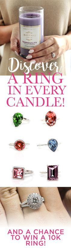 The Original Ring In A Candle Company! Find a ring hidden in every candle worth up to $45... PLUS the chance to win a $10,000 ring!
