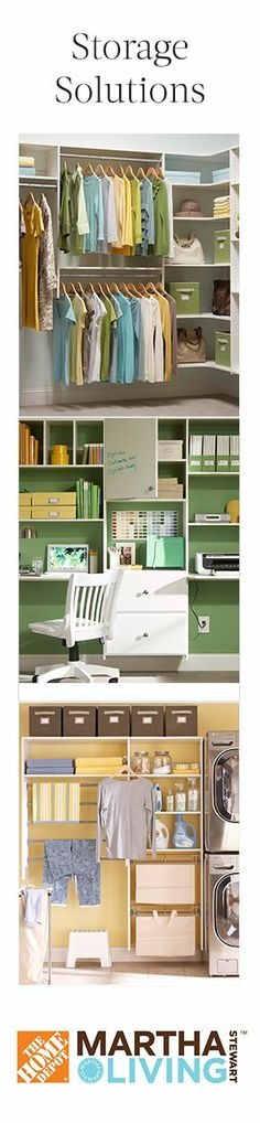 Martha Stewart | Smart storage solutions: clear, organized spaces for a clear mind