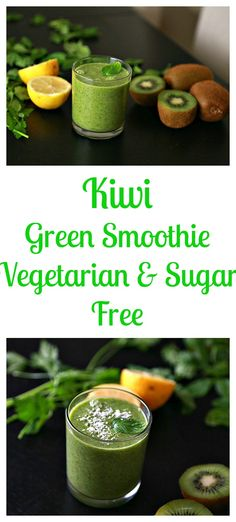 Kiwi Green Smoothie This quick refreshing kiwi smoothie is bold in flavor, and guaranteed to wake you up and makes you feel energized! #healthyeating