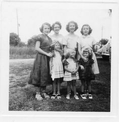 On the left, back row; it looks like Rochelle [Shelley] Deason. On the right, Barbara Gail Deason, In the front row, on the right, Sydney Dee [Deedee] Deason.