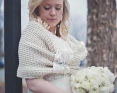 Braut Schal Brautjungfern Geschenk Blume Zubehör