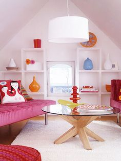 Go Cubed and Colorful in your extra attic space.  Great hangout for teens!