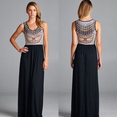 ✨Arrives Soon✨Bohemian Maxi Dress This maxi dress features a subliminal print on top and solid black color on the bottom. Sizes: S M L. Arriving soon leave a comment with your size  to purchase Dresses Maxi