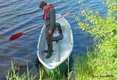 Vakaustesti - stability tests for my new canoe