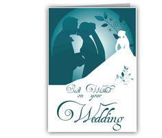 personalized best wishes wedding card