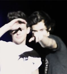 ''Lou can you see that banner?'' ''no, where?'' ''there in front of you, that's for us'' ''oh wow Harry