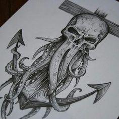 "4,321 Me gusta, 19 comentarios - Art Motive (@art_motive) en Instagram: ""Davy Jones, mechanical pencil By: @courtney_art One of my favorite original pieces I've done. #art…"""