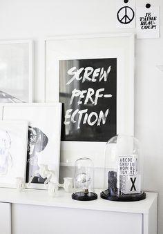 Cloche, art on the wall, black & white