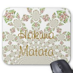 Hakuna Matata Chic Mousepad #Hakuna #Matata #Chic #Mousepad #Amazing #beautiful #stuff #products #sold on #Zazzle for #the #ultimate #shopping #experience