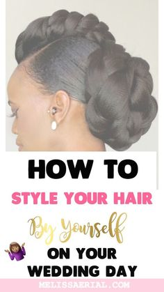 Braided Updo Hairstyles To Style On Your Natural Or Relaxed Hair. - Who said you cannot rock your natural hair on your wedding day? Check out these natural hairstyles Braided Hairstyles Updo, Braided Updo, Protective Hairstyles, Updos, Wedding Hairstyles, Hairdos, Protective Styles, Natural Hair Updo, Natural Hair Growth