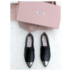 WoahStyle.com | Miu Miu leather loafers with metal toe | Whoops I did it again! #sorrynotsorry These had been on my wish list for too long and where just restocked. How could I resist?!?!