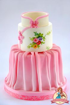 Handpainted Qibao / Cheongsam Cake - Cake by SweetLin