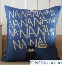 45cm x 45cm TJA Kid's Room Decor Batman linen fabric Cushion Cover